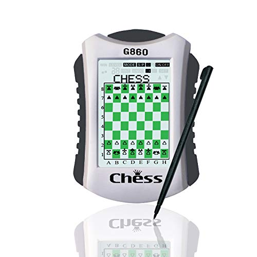 Lyght Handheld Electronic Touch Panel Travel 3 in 1 Chess Game 20 Level for Learning Chess Play Against The Computer or a Partner,100 preset Chess Exercise