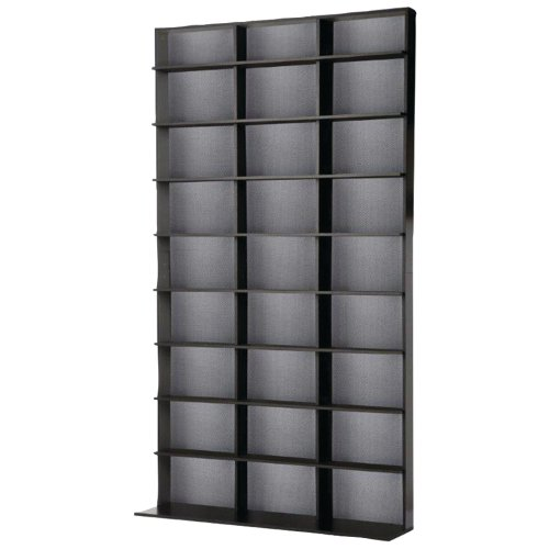 Price comparison product image Atlantic Elite Media Storage Cabinet - Large Tower,  Stores 837 CDs,  630 Blu-Rays,  531 DVDs,  624 PS3 / PS4 Games or 528 wii Games with 9 Fixed Shelves,  PN35435742 in Black