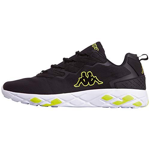 Kappa Unisex-Erwachsene Stratus PC Sneaker, Schwarz (Black/Yellow 1140), 39 EU