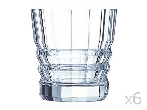 Cristal d'Arques L6695 Set de 6 Gobelets, Cristallin, Transparent, Taille Unique