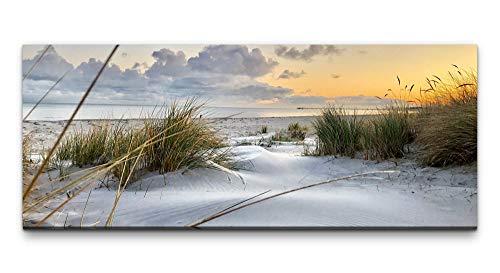 Paul Sinus Art Ivi König Wandbild 100x40cm Sylt Strand Abendröte Sonnenuntergang Traumhaft Wolken Meer