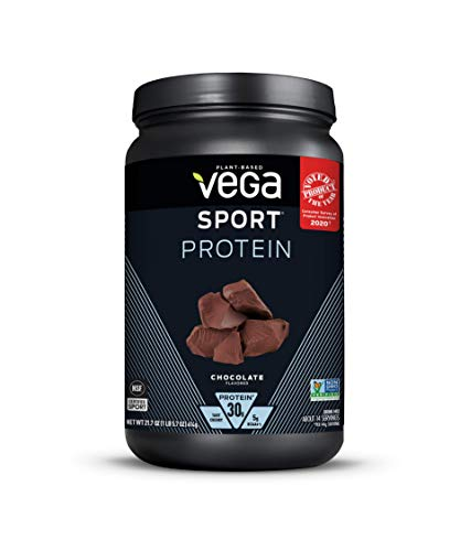 Vega Sport Protein Powder, Chocolate, Plant Based Protein Powder Post Workout - Certified Vegan, Vegetarian, Keto-Friendly, Gluten Free, Dairy Free, BCAA Amino Acid (14 Servings, 1lb 5.7oz)
