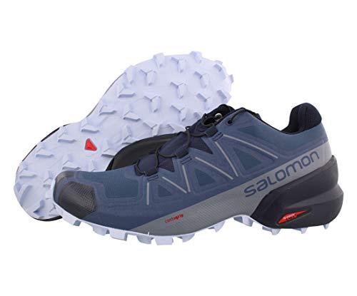 Salomon Women's Speedcross 5 W Trail Running Shoe, Sargasso Sea/Navy Blazer/Heather, 8.5