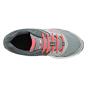 Saucony Women's Cohesion 10 Running Shoe, Grey/Coral, 8 M US
