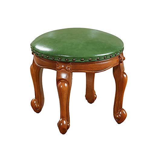 QTPL Kleine runde hocker Kinder Sofa hocker ändern schuhbank massivholz couchtisch hocker (Farbe : Green)