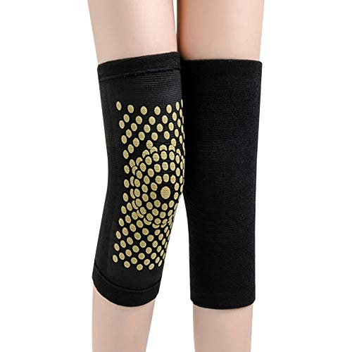 Self Heating Knee Brace Sleeve, Magnetic Therapy Knee Pad Outdoor Sports Knee Protector for Arthritis Joint Pain Relief and Injury Recovery For Women, Men (Black)
