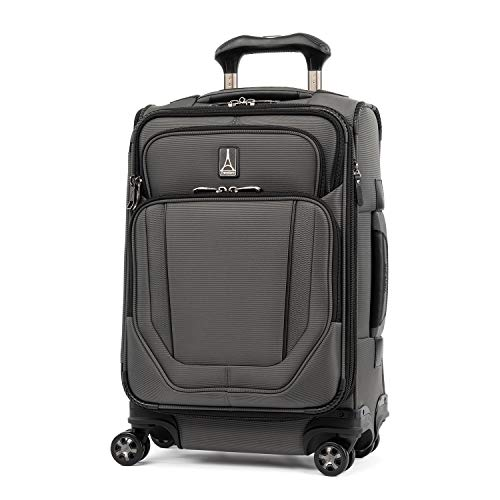 Travelpro Crew Versapack-Softside Expandable Spinner Wheel Luggage, Titanium Grey, Carry-On 20-Inch