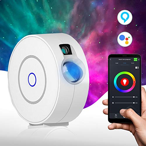 Star Light Galaxy Projector for Bedroom | Alexa, Google Assistant, App Controlled, Adjustable Brightness, 16.7m Color Options, Timer Modes | Starry Nebula Clouds, Laser Night Sky for Kids