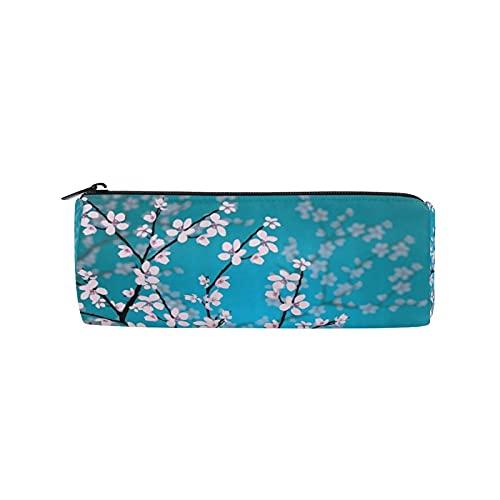 Cherry Blossom - Estuche para lápices, diseño de flores japonesas con cremallera, para mujeres, niños, niñas, adolescentes, niños, enfermeras, suministros escolares