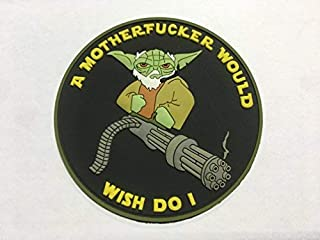 Tactical Yoda Mini Gun Ac-130 Door Gunner 3D PVC Patch Morale Patch