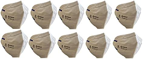 Venus Polyester Dust Mask (White, Without Valve, Pack of 10) for Unisex