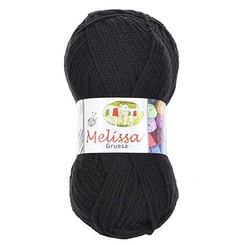 Melissa Hilo 100% Acrilico Ovillo de Lana (115m 100g * 1=50g * 2) Premium para DIY Tejer y...
