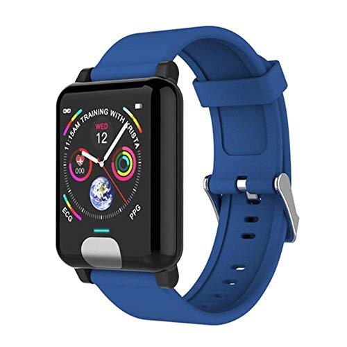 Generies Fitness-Tracker Smartwatches EKG PPG Blutdruckmessgerät Fitness Tracker Smartband Für iPhone Samsung Huawei Phone Watch Blau