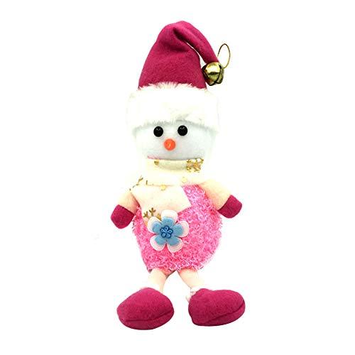 Demarkt–Árbol de Navidad Colgante Navidad muñecas Colgante decoración de Navidad Rojo, Tela, Rosa, 11 * 32cm