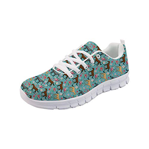 Bigcardesigns Casual Lace-ups Sneakers for Women Ladies Travel Hiking Comfortable Shoes Lightweight Athletic Shoes Size 7 B(M) Women-EUR 37