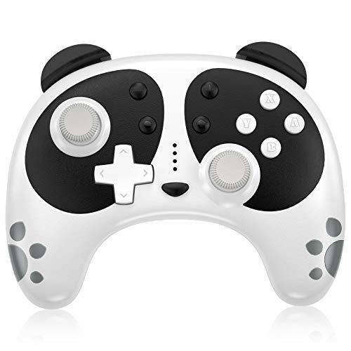 Wireless Pro Controller für Nintendo Switch, STOGA Panda Switch Controller mit NFC-Weckfunktion, kompatibel mit Switch Lite / PC, Unterstützung Motion Control