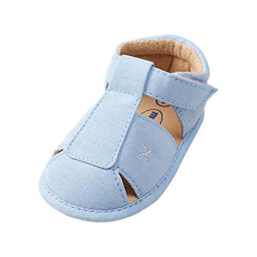 Zapatos de bebé por 3-18 Meses, Auxma Sandalias de niños, Zapatos Antideslizantes para bebés, Zapatos únicos de Verano para niños,Primeros Pasos (11cm/3-6 M, Cielo Azul)