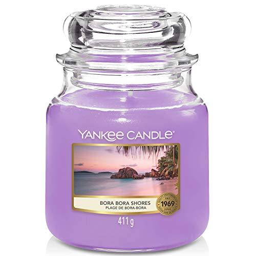Yankee Candle Duftkerze, Glas, Lila, 411g