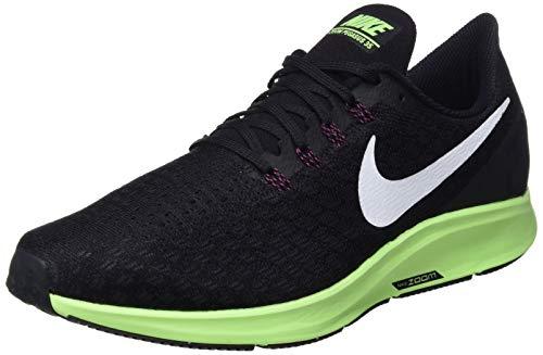 Nike Men's Air Zoom Pegasus 35 Running Shoe Black/White/Burgandy Ash/Lime Blast Size 14 M US