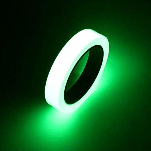 Cinta adhesiva fluorescente Uooom, cinta luminosa, impermeable, brilla en la oscuridad de la noche, cinta de seguridad verde., Verde, 25mm*3m