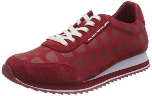 Desigual Shoes_Pegaso_logoman, Zapatillas para Mujer, Rojo, 37 EU