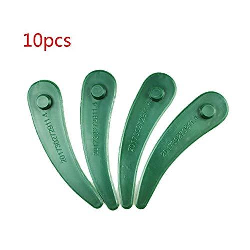 Alta calidad Reemplazo 10pcs plástico Cortadora de cesped hojas de cortadoras de cuchillas del cortacésped for Bosch ART 26-18 23-18 Li Jardín Accesorios durable (Color : A)