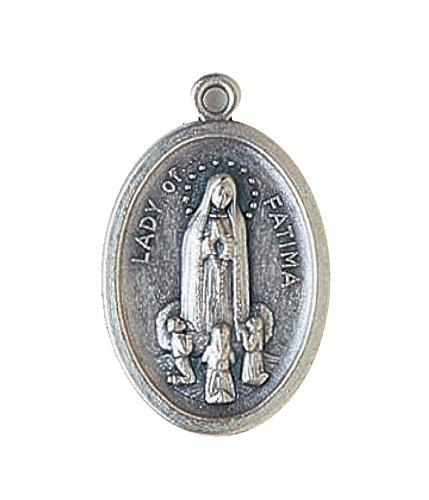 R Heaven - Nuestra señora de fátima colgante medalla católica - metálico 2cm , color plata
