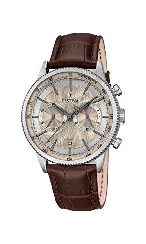 Festina F16893/7 - Reloj de Pulsera Hombre, Cuero, Color Marrón