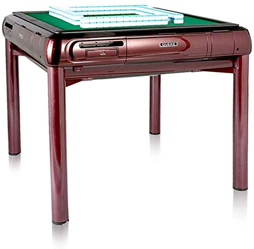 KEMANDUO Fully Automatic Mahjong Table Electronic Chess Machine Chess Table Red 2 in 1 Waterproof and Durable