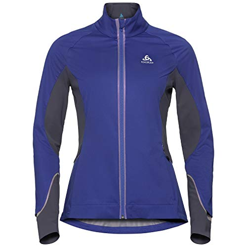 Odlo Damen Zeroweight Pro Jacke, Clematis Blue-Odyssey Gray, XS
