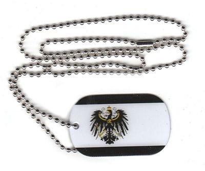 Dog Tag Königreich Preußen Erkennungsmarke 30 x 50 mm Fahne Flagge