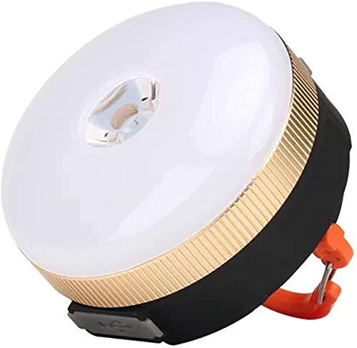Lxyfc 4 Modes De Camping Feux LED, Tente Portative LED, Poisson Tente De Camping Lumière Intérieure Lumineuse Randonnée TC (Color : Yellow)