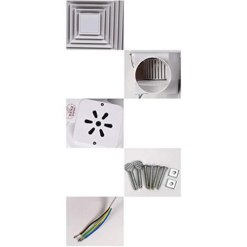 JKL Haushalts-Abluftventilator-Deckenrohr-Abluft-Hochleistungsluft-Volumen: 210M3 / H, Geräusch: 47Db (A),