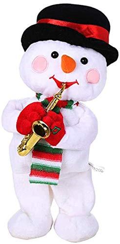 JIAL Elektrische Spielzeugfüllte Kinderspielzeug, Weihnachten Weihnachtsmann/Schneemann/Elch, Saxophon, Singen, Tanzen, Musikspielzeug, Kinder Chongxiang (Color : Default)