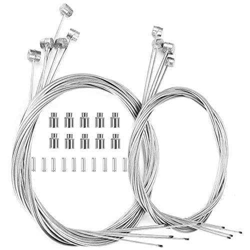 Hyacinth 10PCS Premium Bike Brake Cable, Professional Bicycle Brake line for Mountain and Road, Free for End Caps and End Ferrule