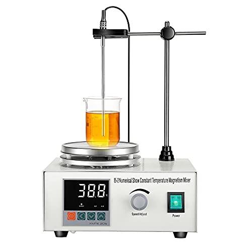 KKTECT Agitatore Magnetico 200W 1000ML con Display Digitale della Temperatura e Regolazione della...