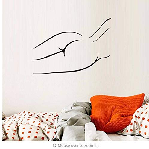 Home Decor Nude Sexy Frauen Body Salon Wandkunst Abziehbilder Vinyl Wandaufkleber Für Beauty Salon Abnehmbare Mädchen Wallpaper Wasserdicht 42 * 59cm