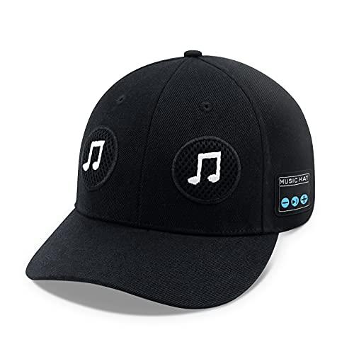 TOUCHTWO Bluetooth Speaker Hat Bluetooth Music Hat Adjustable Wireless Speakerphone Cap Baseball Caps Outdoor Sport Unique Gifts for Men/Women/Boys/Girls