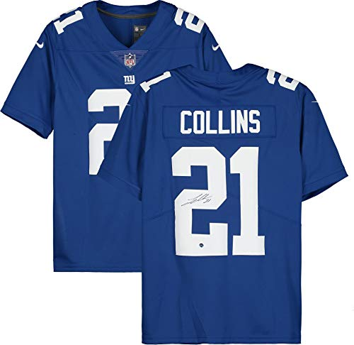 Landon Collins New York Giants Autographed Blue Nike Limited Twill Jersey - Autographed NFL Jerseys