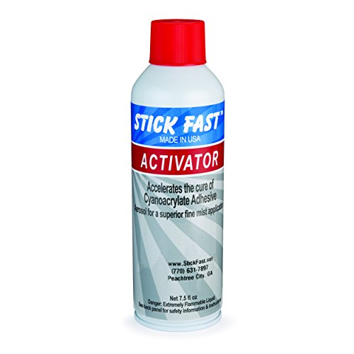 Stick Fast Aerosol Activator Multipurpose Adhesive Spray, Clear, 7.5 Ounces