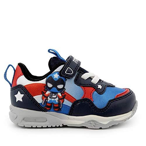 PRIMIGI 5448911 Sneakers Scarpe Bambino Supereroe LUCI LED