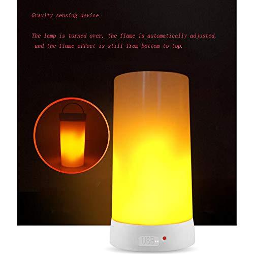 Lampe de table flamme LED, lampe décorative, USB de charge, portable aimant bar, restaurant bar hôtel créer une atmosphère rêveuse lumière de flamme LED, 5,*2