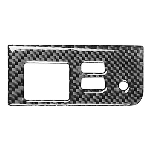 XINLIN Ruderude FIT FOR Mazda MX-5 Miata Roadster Botón de Almacenamiento de la Fibra de Carbono Cubierta del Interruptor del Interruptor de la Cubierta 2016+ MX5 ND Interior