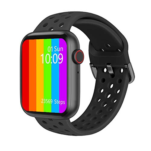 LHHJPULS IWO W26 Intelligente Guarda ECG PPG 1,75 Pollici frequenza cardiaca di Iwo 12 PRO SmartWatch Iwo 13 Smart Orologi for Le Donne/Uomini 2020 for Apple Android (Color : Black)