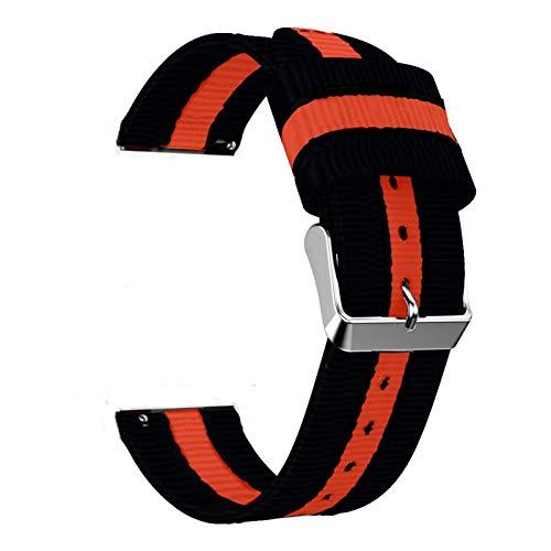 ZXF Correa de Reloj, Correa de Nylon de 20 mm 22mm para Ver el Bucle Deportivo de 42 mm 46mm S3 para Ver (Band Color :...