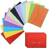 60Pcs Sobres Regalo, Sobres de Colores de 4.6 x 3.33 Pulgadas Mini Sobres Encantadores para Navidad, Acción de Gracias, Bodas, Suministros para Fiestas de Cumpleaños, y Semillas (12 colores)