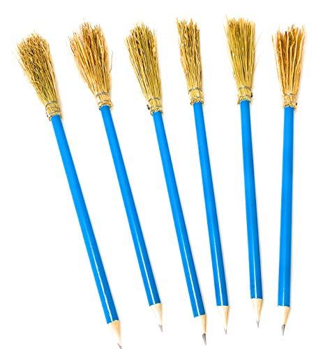 Mendi 6 Bleistift Besen 26 cm - Farbe Himmelblau