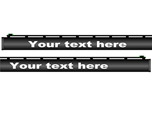 Decalnetwork Custom Shotgun Barrel Decals Your Text Comes as Set of 3