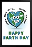 Poster Happy Earth Day Go Green Conservation 30,5 x 45,7 cm
