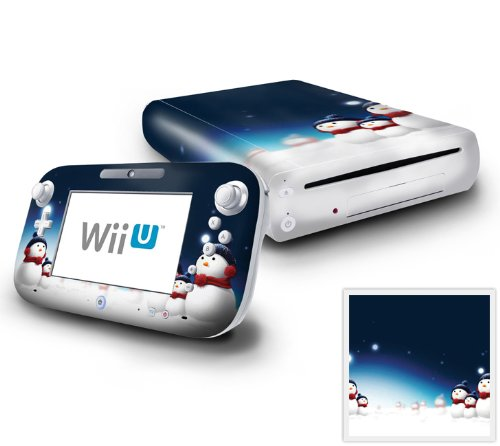 Nintendo Wii U Console and GamePad Decal skin Sticker - Blue Star